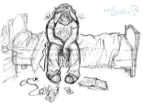 عکس نقاشی افسردگی