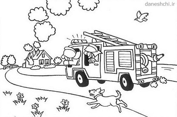 نقاشی درمورد آتش نشانان