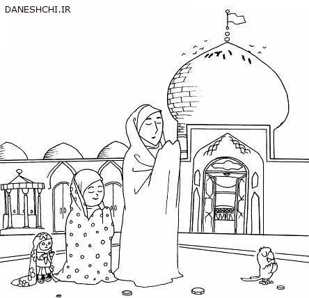 نقاشی مسجد برای رنگ آمیزی
